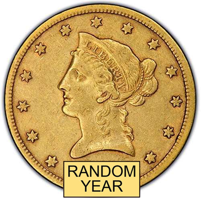 Picture of (1838-1907) $10 Gold Liberty XF (Random Year)