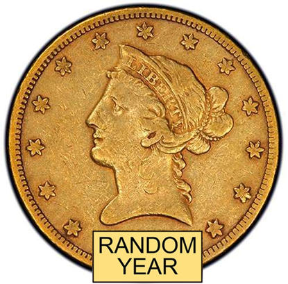 Picture of (1838-1907) $10 Gold Liberty VF (Random Year)