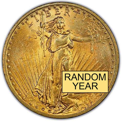 Picture of (1907-1933) $20 Gold St. Gaudens AU (Random Year)