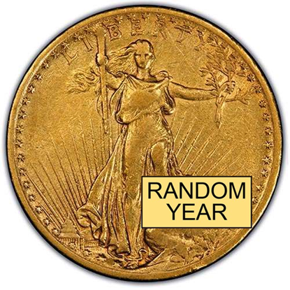 Picture of (1907-1933) $20 Gold St. Gaudens XF (Random Year)