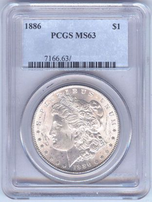 Picture of Morgan Dollars PCGS/NGC MS63