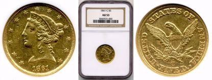 Picture of 1861-C $5 Liberty AU50 PCGS