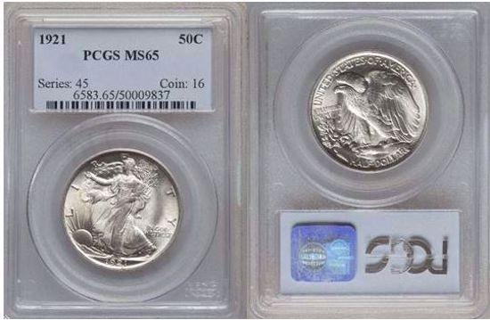 Picture of 1921 Walking Liberty Half Dollar