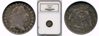 Picture of 1795 Half Dime AU50 NGC