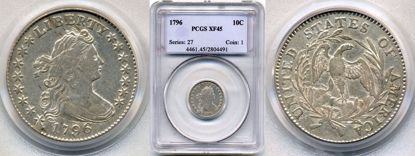 Picture of 1796 Draped Bust Dime XF45 PCGS