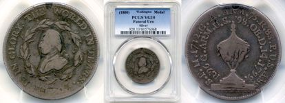 Picture of 1800 Washington Funeral Medal Silver VG10 PCGS