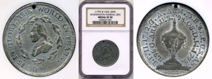 Picture of 1799 Washington Funeral Medal White Metal XF40 NGC