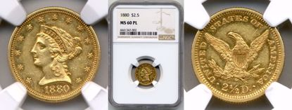 Picture of 1880 $2.5 Liberty MS60PL NGC