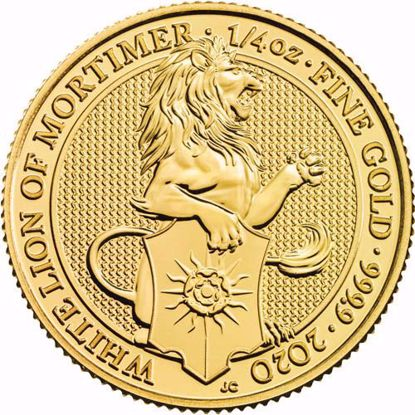 Picture of 2020 1/4 Oz Gold Queens Beast White Lion of Mortimer