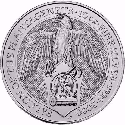 Picture of 2020 10 Oz Silver Queens Beast Falcon