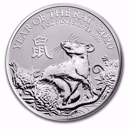 Picture of 2020 1 Oz Silver Royal Mint Lunar Rat