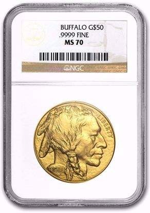 Picture of BU Gold Buffalos MS70 NGC