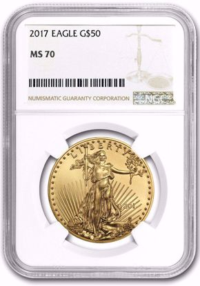 Picture of 2017-W $50 One-Ounce Gold Eagle MS70 NGC