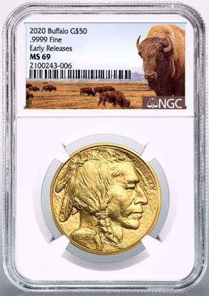 Picture of 2020 $50 Gold Buffalo ER MS69 NGC Herd