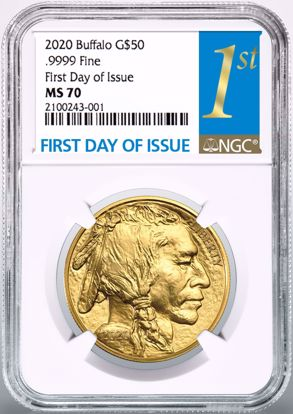 Picture of 2020 $50 Gold Buffalo FDI MS70 NGC