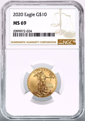 Picture of 2020 $10 Gold American Eagle MS69 NGC