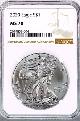 Picture of 2020 American Silver Eagle MS70 NGC