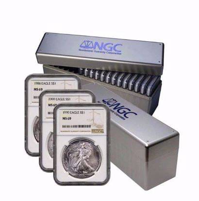 Picture of COMPLETE 1986-2021 36 Coin American Silver Eagle Set MS69 NGC