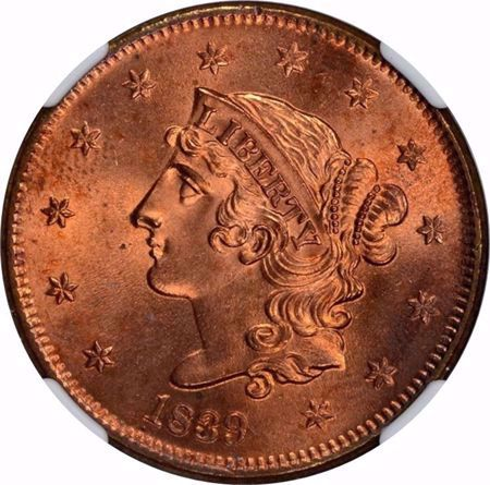 Picture for category Coronet Head Cent (1816-1839)