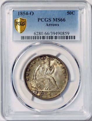 Picture of 1854-O Arrows Seated Half Dollar MS66 NGC