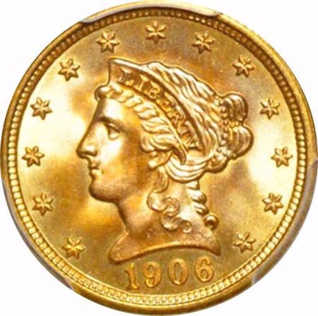 Picture for category Liberty Head $2.5 (1840-1907)