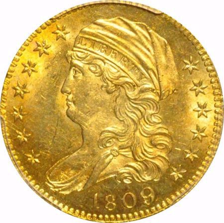 Picture for category Capped Bust $5 (1807-1834)