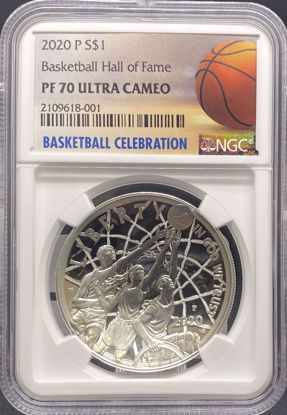 Picture of 2020 S$1 Basketball Hall of Fame PF70UCAM NGC