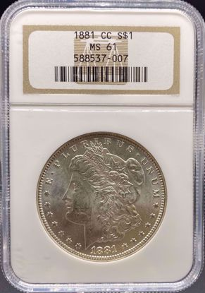 Picture of 1881-CC Morgan Dollar MS61 NGC