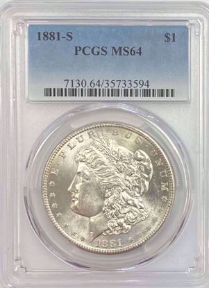 Picture of 1881-S Morgan Dollar MS64 PCGS