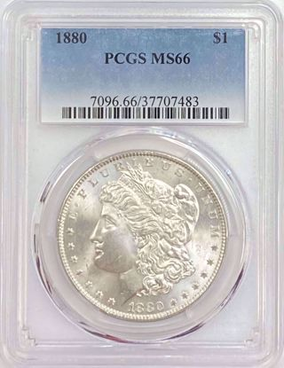 Picture of 1880 Morgan Dollar MS66 PCGS