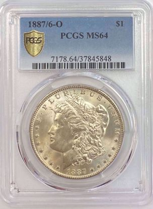 Picture of 1887/6-O Morgan Dollar MS64 PCGS