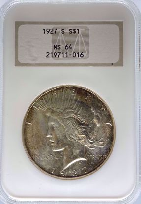 Picture of 1927-S Peace Dollar MS64 NGC