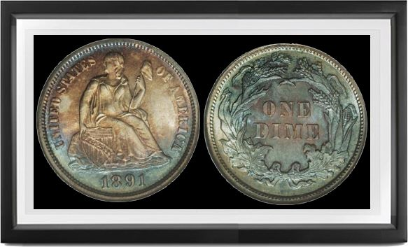 Liberty Seated Legend Dimes