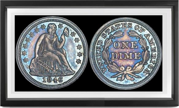 Liberty Seated Stars Dimes