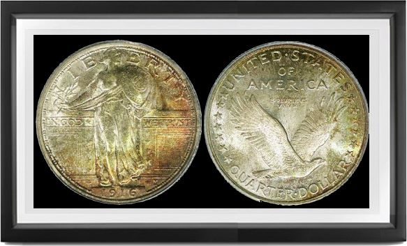 Standing Liberty Type 1 Quarters