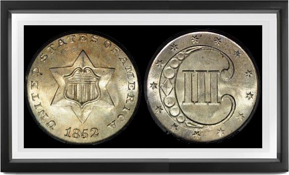Type 1 Three Cents-Silver